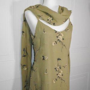 Vintage Sue Wong Silk Floral Evening Dress